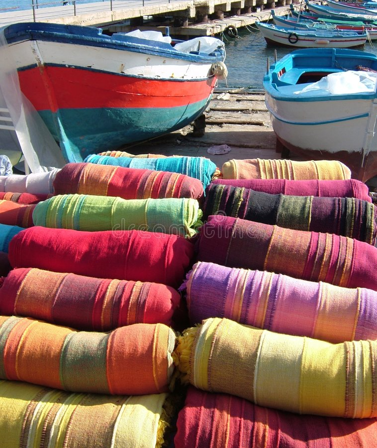 Coloful Fabrics-2 siciliano foto de stock