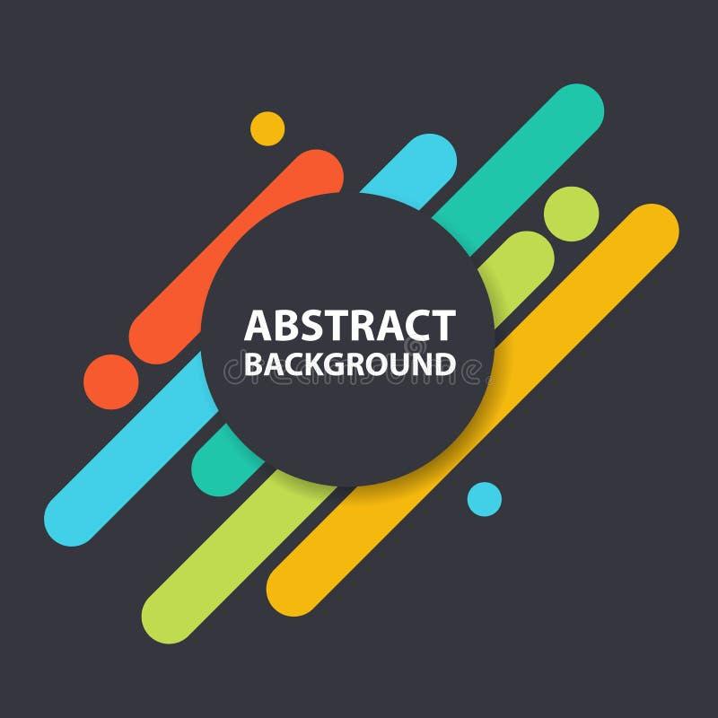 Coloful-Kreis-Hintergrundmaterial-Designsammlung, geometrische Formhintergrundschablone für Websitesammlung lizenzfreie abbildung