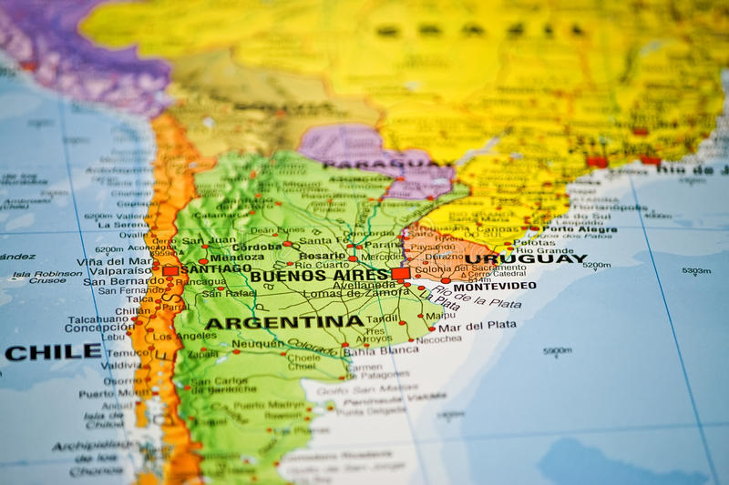 Download Coloful Map Of South America Stock Image - Image: 16493899