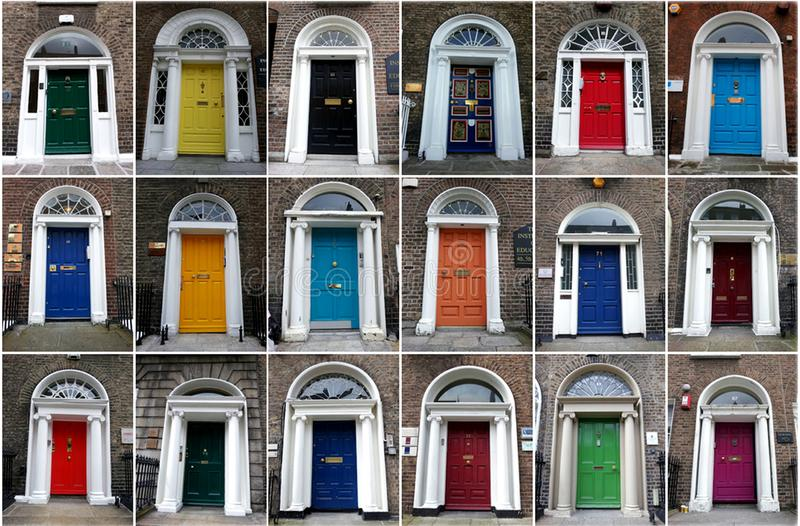 Colofur doors dublin ireland. Is a typical irish picture. If you traveled to Dublin you know it. Dublin has a lot of beautiful doors plenty of color royalty free stock image