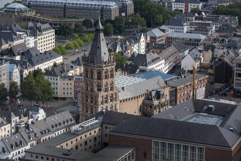 Cologne avec une vue d'en haut images libres de droits