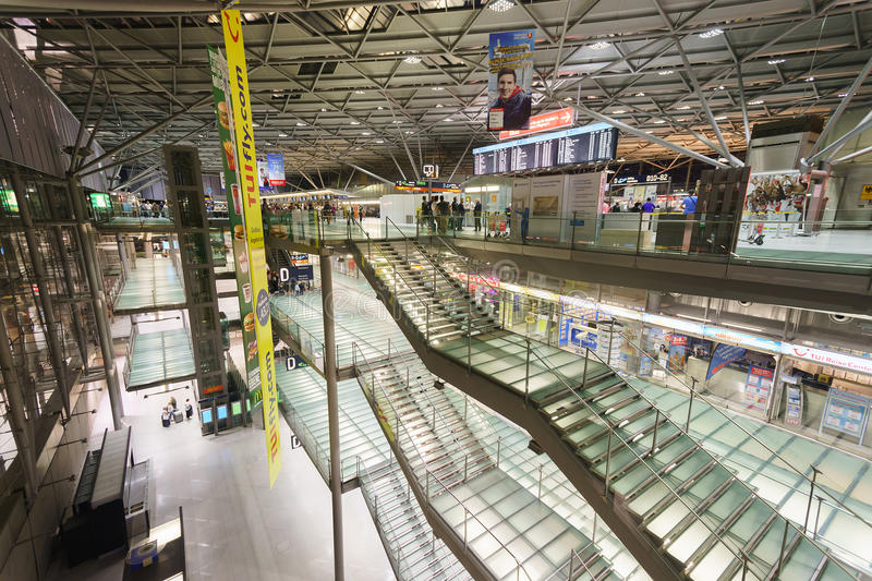 Cologne Bonn Airport Interior Editorial Stock Image Image of steps
