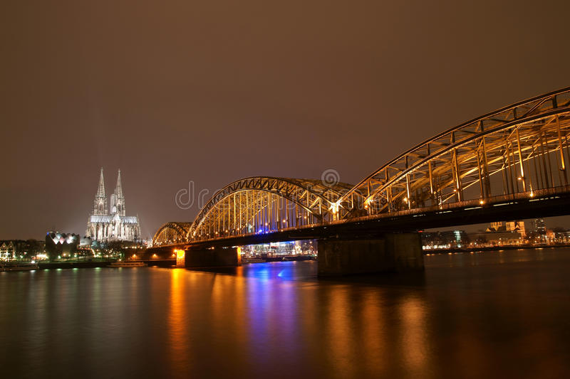 Download Cologne cathedral stock image. Image of night, monumental - 17947563
