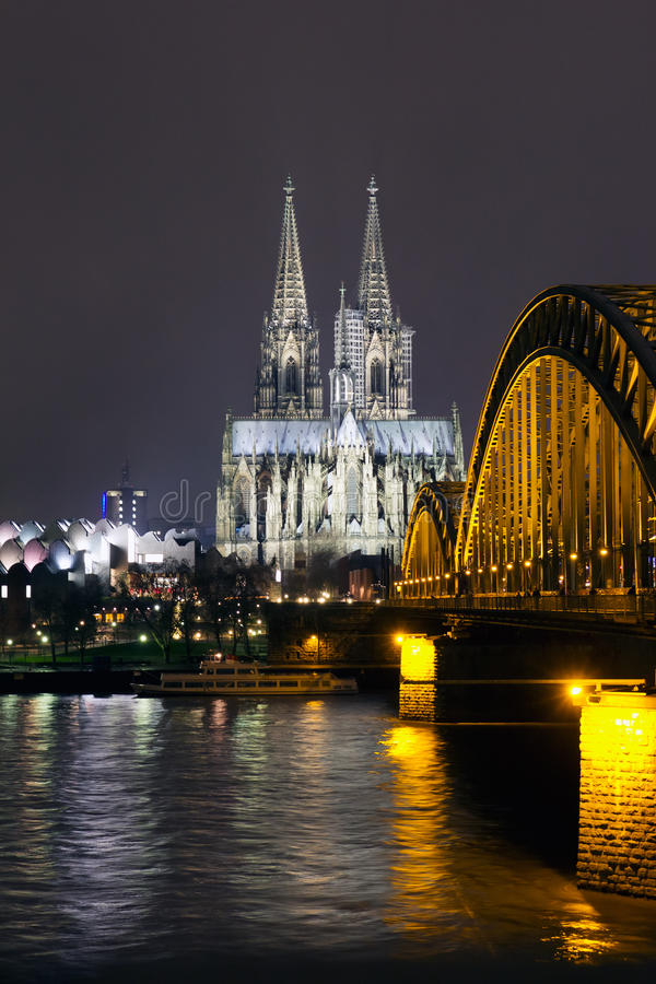 Download Cologne Cathedral stock image. Image of german, night - 26827313