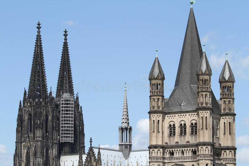 Download Cologne Cathedral And Gross St. Martin Royalty Free Stock Photos - Image: 21837628