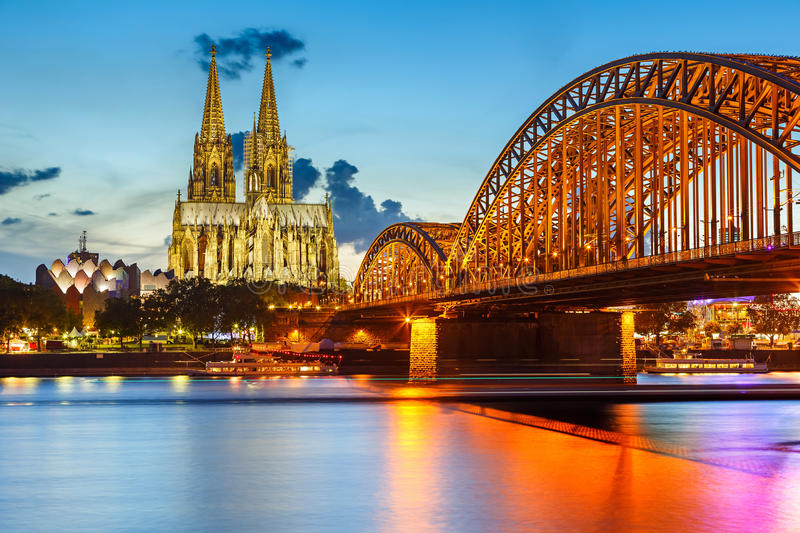 Download Cologne Cathedral And Hohenzollern Bridge, Germany Stock Image - Image: 27032647