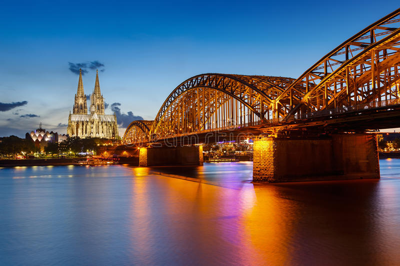 Download Cologne Cathedral And Hohenzollern Bridge, Germany Stock Photo - Image: 27032676