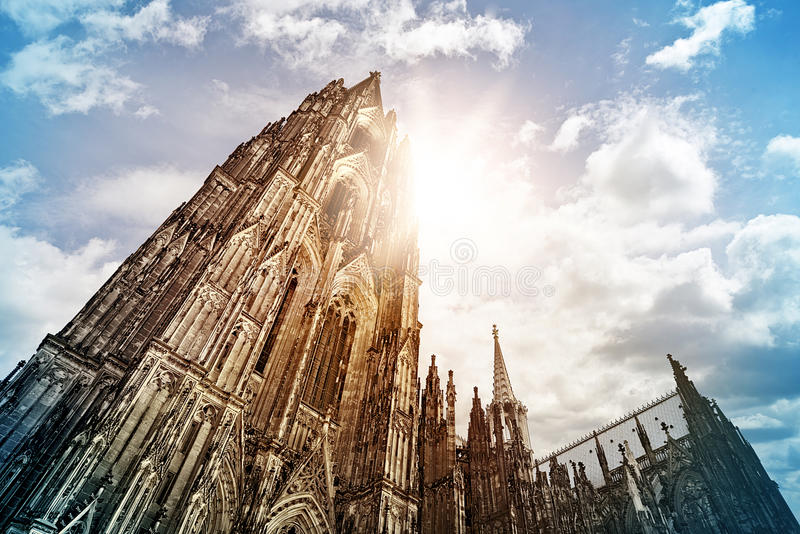 Cologne Cathedral. (Kölner Dom) in the morning sun, Cologne, Germany