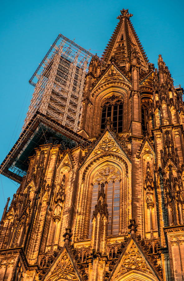 Cologne Cathedral tower royalty free stock image