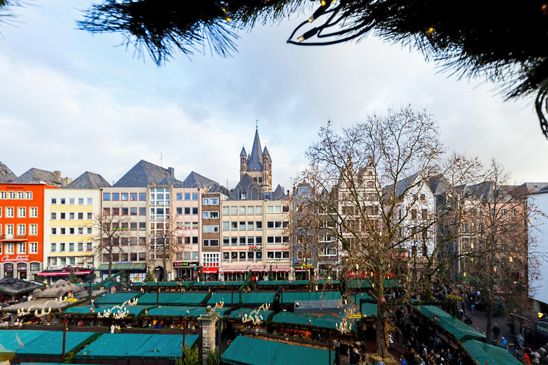 Cologne Christmas market royalty free stock images