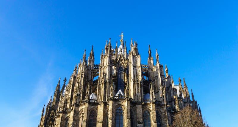 Cologne domkyrka, monument av tysk katolicism och gotisk arkitektur i Cologne, Tyskland fotografering för bildbyråer