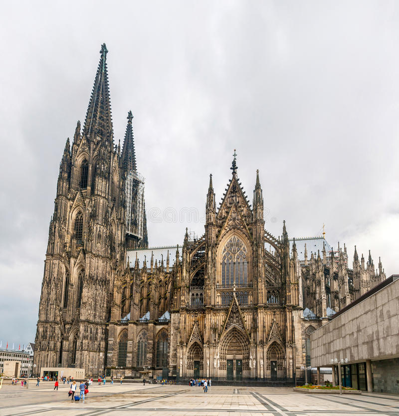Cologne domkyrka, Tyskland, norr Rhen-Westphalia royaltyfri bild