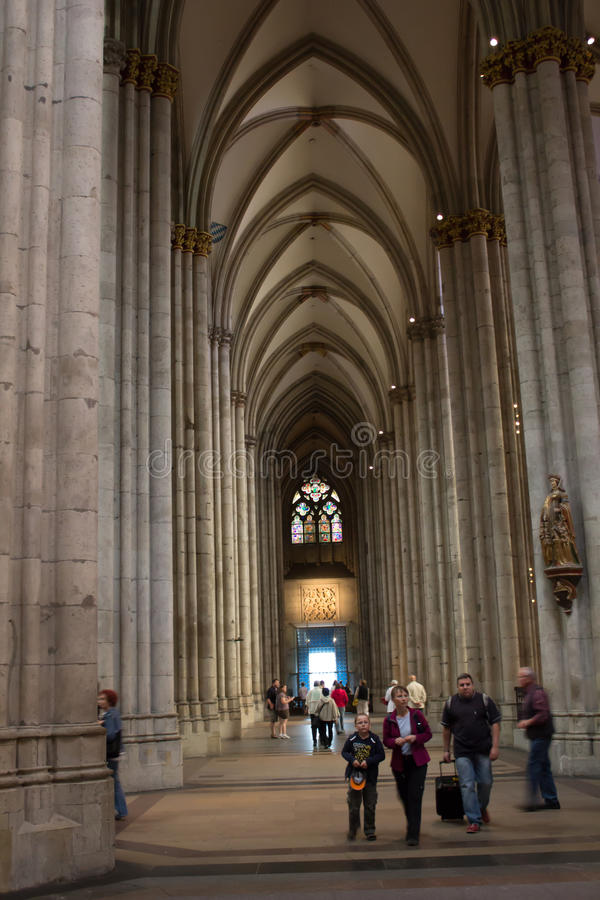 Cologne, Germany - August 13, 2011: The interior of Cologne cathedral royalty free stock photography