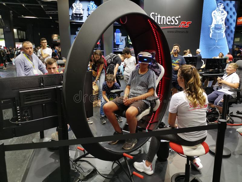 Sitness gaming chair at Gamescom 2019 stock photography