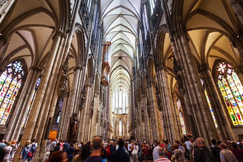 Cologne Cathedral interior in Germany royalty free stock image