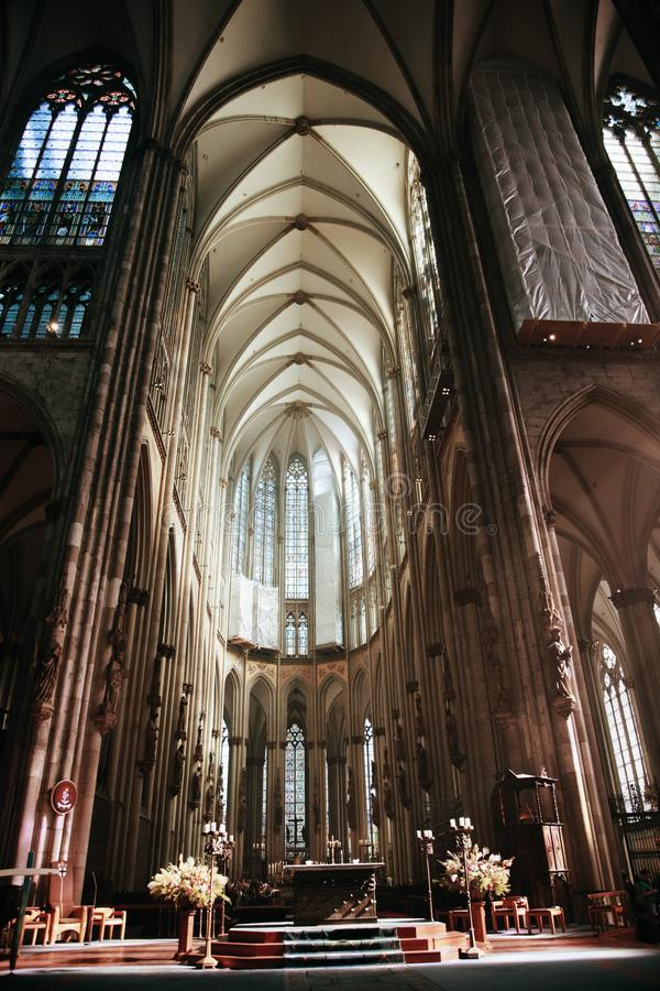 COLOGNE, GERMANY - SEPTEMBER 25, 2016: The Cathedral is Germany stock image