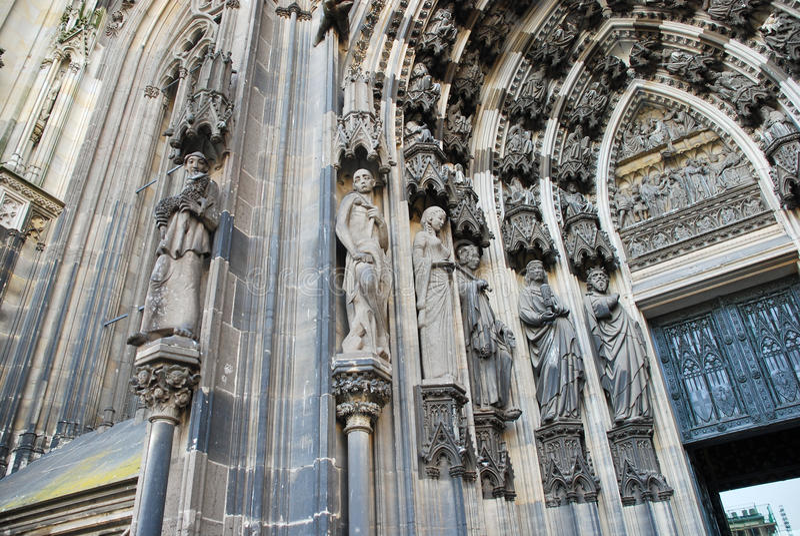 cologne katedralny drzwi obraz stock