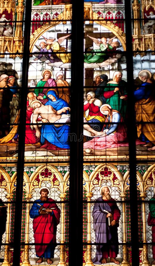 Cologne, Main Cathedral s Window close up