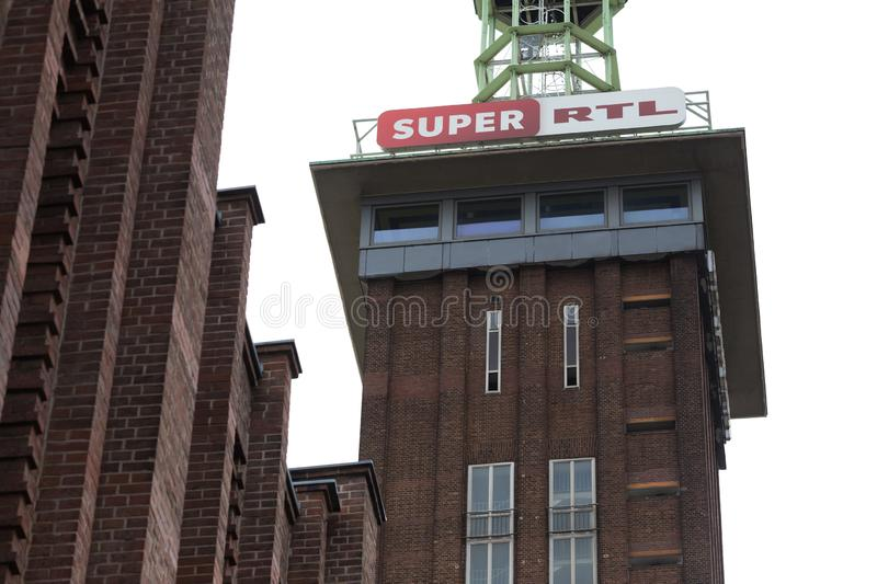 Cologne, North Rhine-Westphalia/germany - 24 10 18: super rtl tv station sign in cologne germany royalty free stock photo