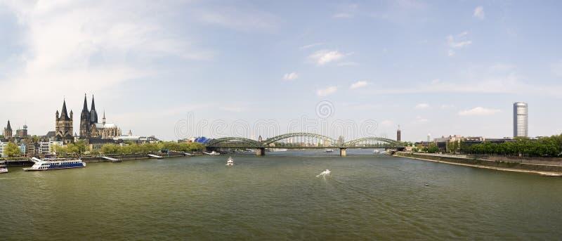 cologne panorama Rhine zdjęcia stock
