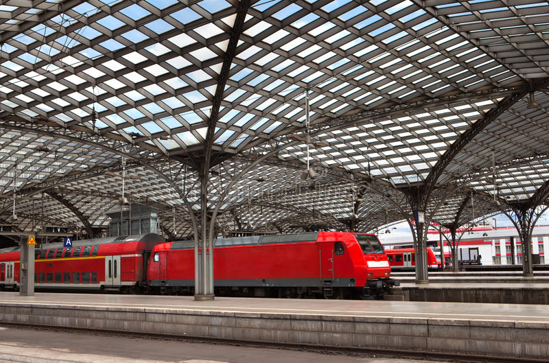 Download Cologne Railwail Station stock photo. Image of roof, cologne - 24877900
