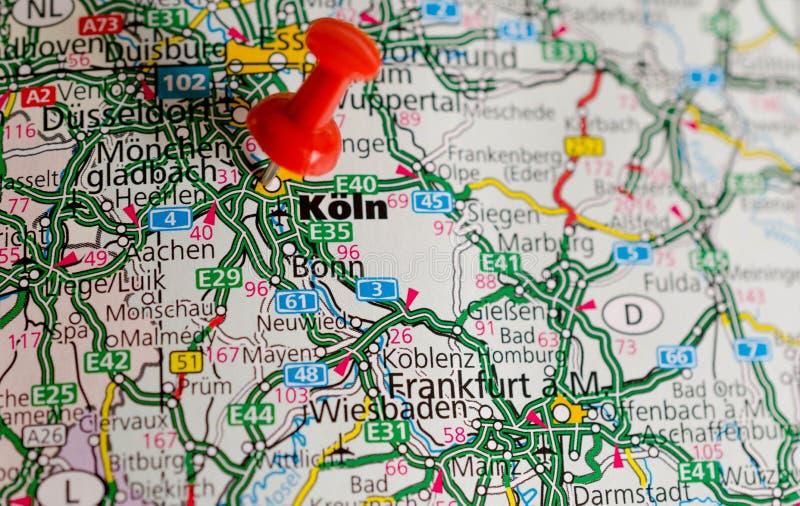 Carte Geographique Allemagne Cologne.Cologne Sur La Carte Image Stock Image Du Pages Route