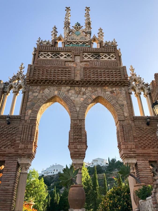 ` Colomares城堡` Benalmadena,卡迪士,西班牙细节  图库摄影