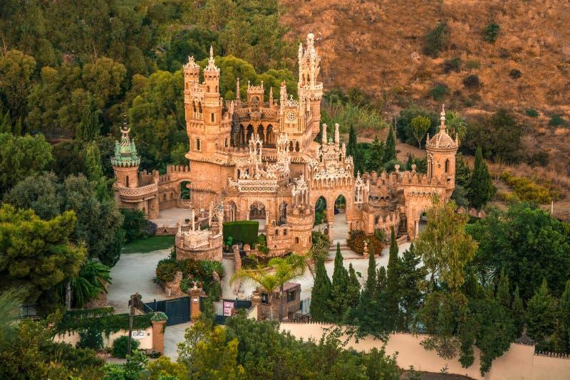 Colomares Castle Benalmadena Malaga Costa del Sol Spain gothic moorish architecture. Amazing view stock photo