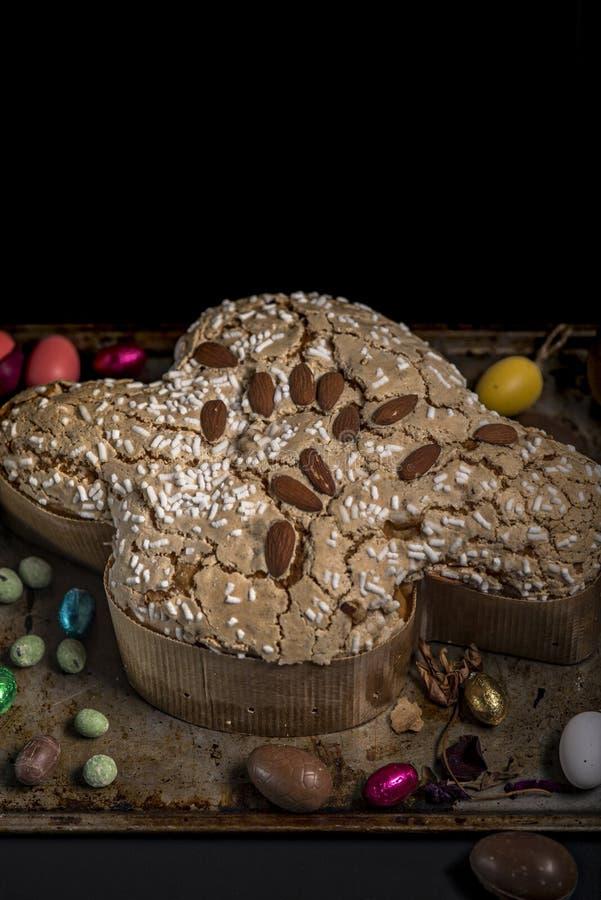 Colomba,意大利人复活节蛋糕,意大利 免版税库存照片