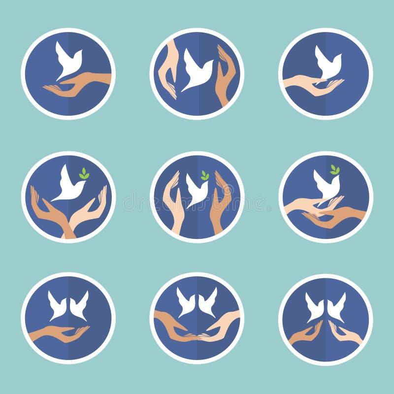 Colomba di pace illustrazione di stock
