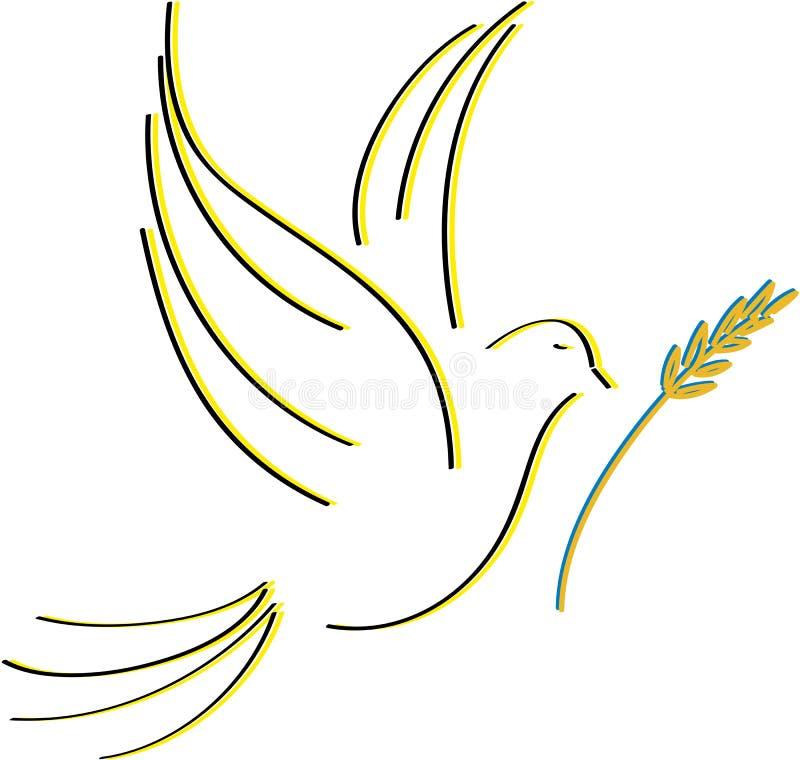 Colomba di pace royalty illustrazione gratis