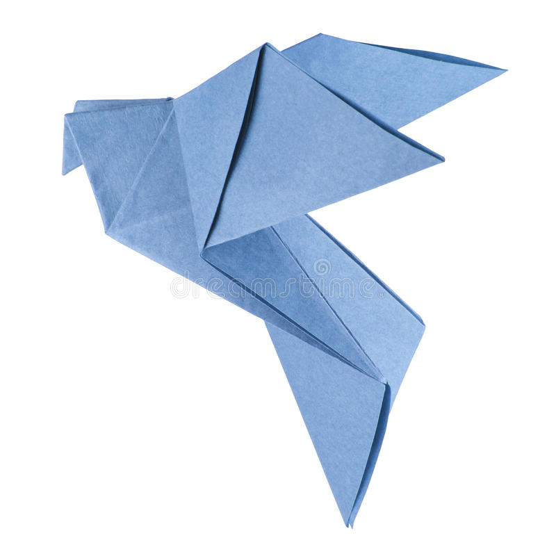 Colomba isolata di origami fotografie stock libere da diritti