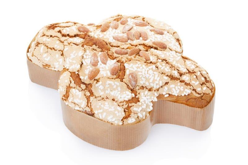 Colomba, Italiaanse Pasen-cake stock afbeeldingen