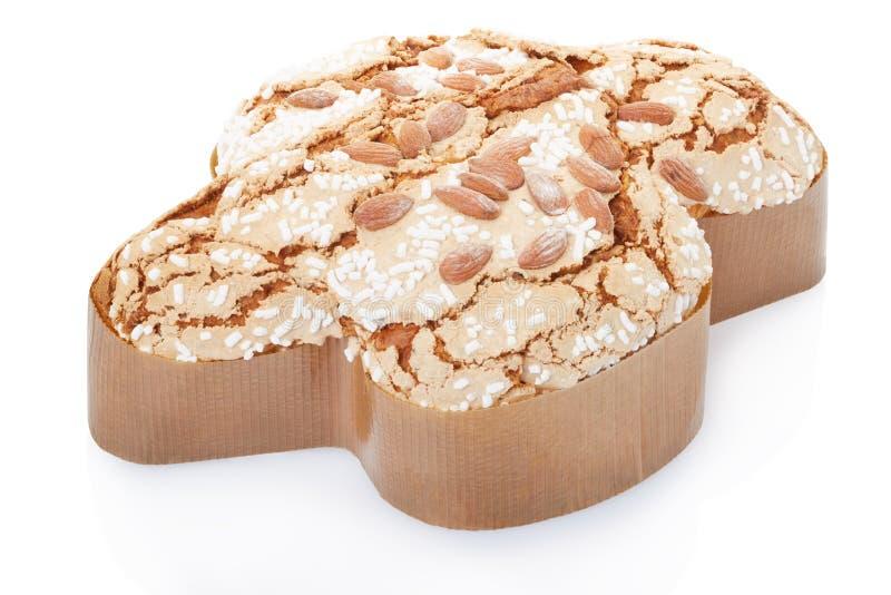 Colomba, Italiaanse Pasen-cake in fom van een duif royalty-vrije stock afbeelding
