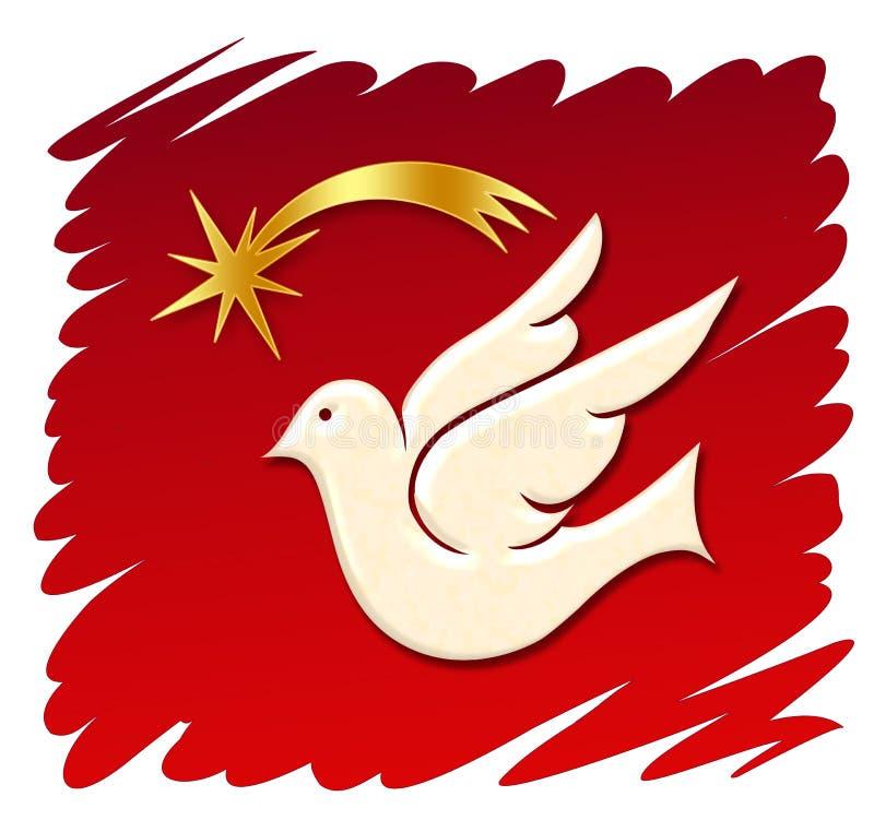 colomba + stella illustrazione di stock