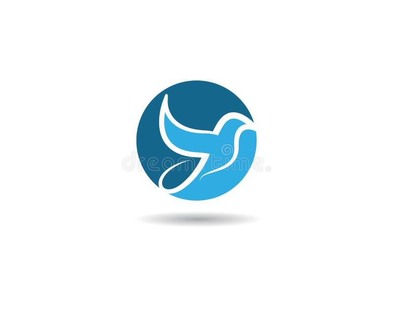 Colombe Logo Template d'oiseau illustration libre de droits