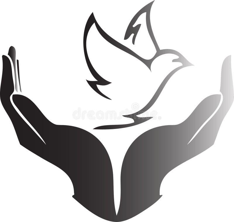 Colombe pour la paix illustration de vecteur