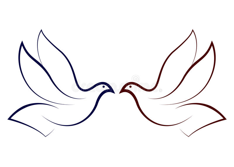 Colombe volante illustration stock
