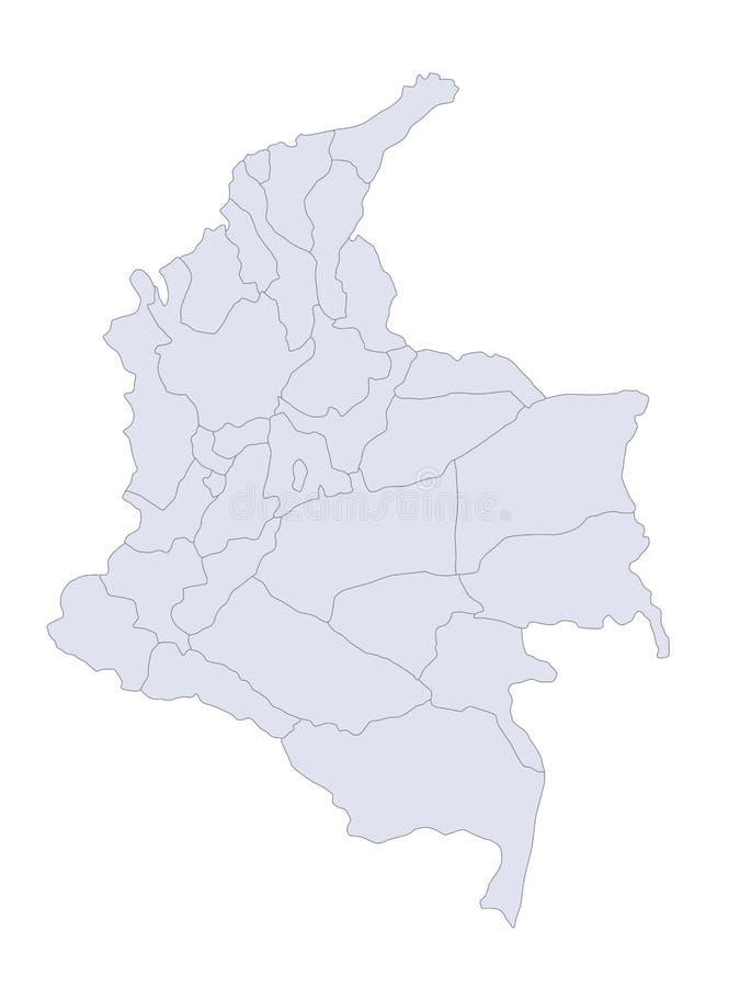 colombia översikt royaltyfri illustrationer