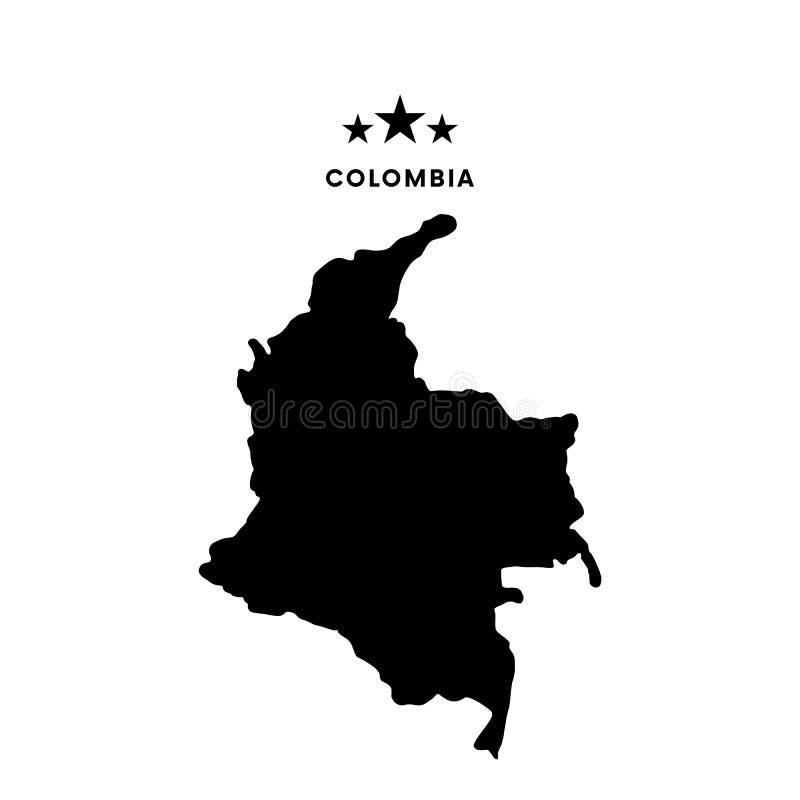 Colombia översikt också vektor för coreldrawillustration vektor illustrationer