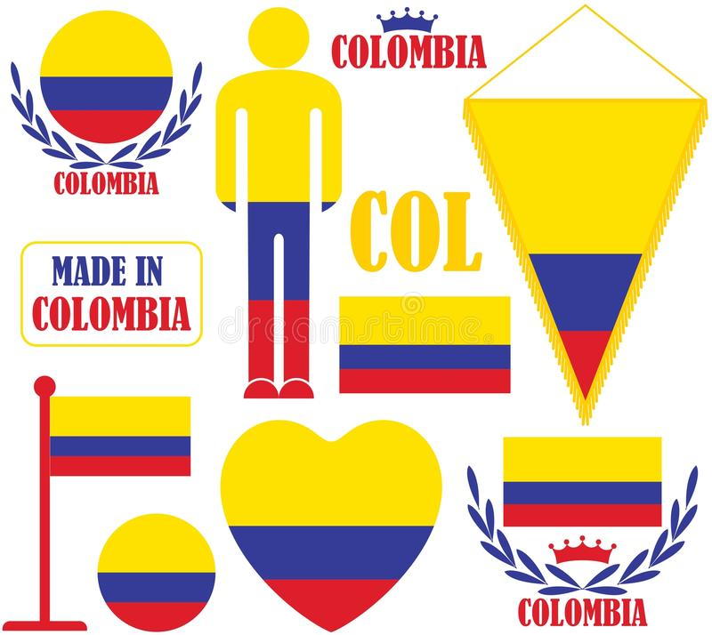 colombia stock illustrationer