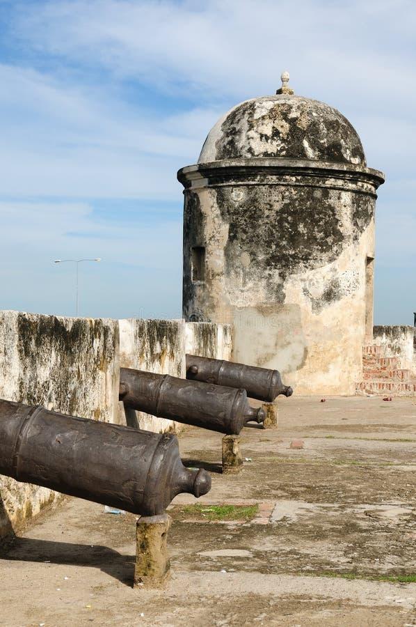 Colombia beskådar på den gammala Cartagenaen fotografering för bildbyråer
