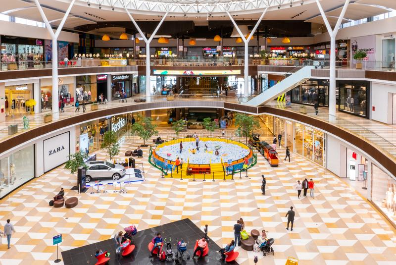 Colombia Chia  Fontanar commercial center interior view game area stock photography