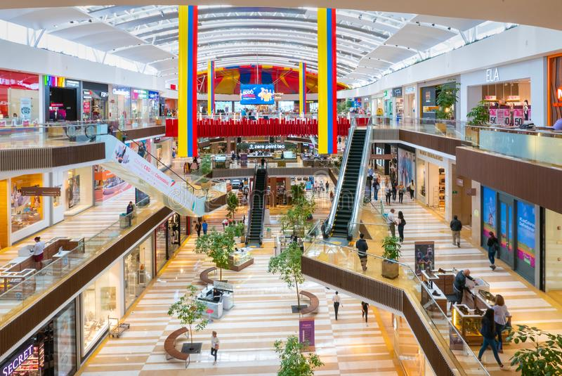 Colombia Chia  Fontanar commercial center interior view stock photo