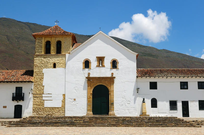 Colombia, Colonial architecture of Villa de Leyva royalty free stock image