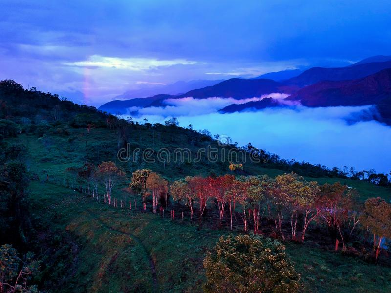 Colombia this country have many mountains and many trees stock image