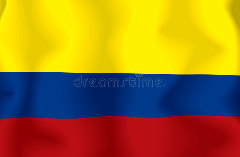 Colombia Flag royalty free illustration