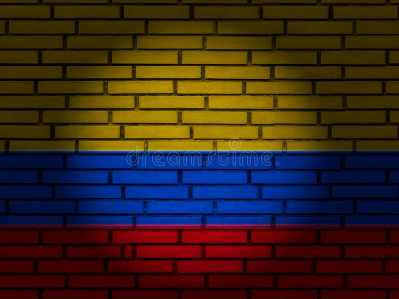 Colombia flag brick wall royalty free stock images