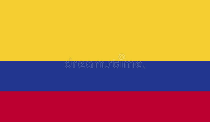 Colombia flag image. For any design in simple style vector illustration