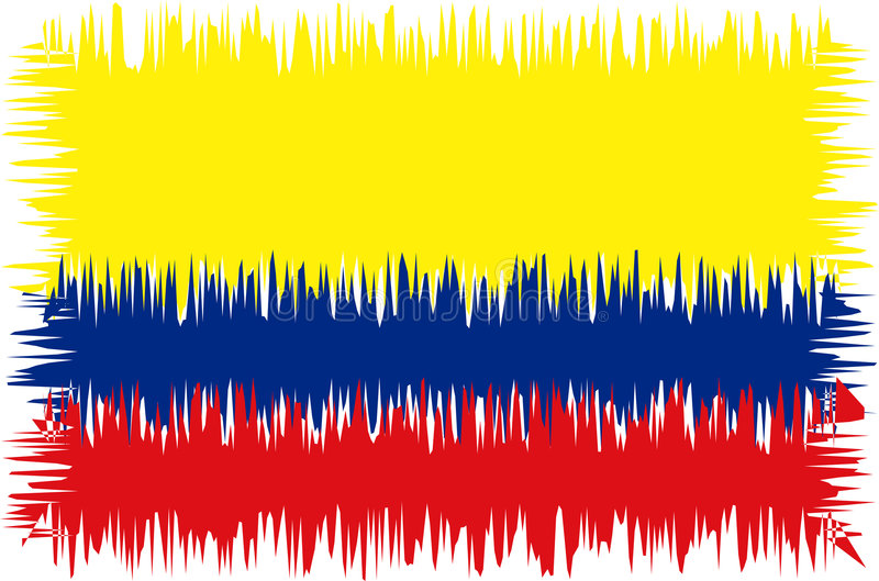 Colombia flag stylized (doodle stock photography